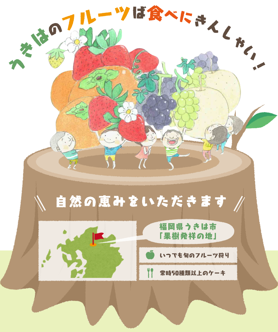 福岡県うきは市の果樹村 やまんどん